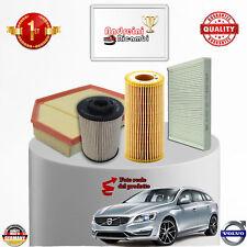 KIT TAGLIANDO 4 FILTRI VOLVO S60 II / V60 D5 2.4 151KW 205CV DAL 2011 -> KTV