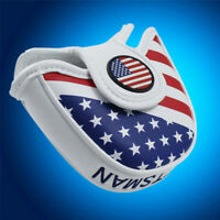 USA Flag Mallet Putter Cover For TaylorMade Odyssey Golf Club Head Covers New