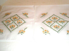 """Vintage Lot 2 Table Runners Daisies 36"""""""