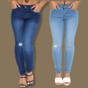 Ladies Topshop High Waist Super Stretch Skinny High Elasticity Jeans Sizes 26-38