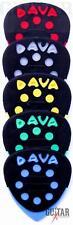 5 Dava Control Grip Tips Multi-Colour Guitar Picks multi-gauge flexibility picks