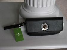 AUTHENTIC KATE SPADE Black Leather Clutch/Wristlet Chrystie Street Evan NWT