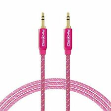 2 Metre Gold-Plated Cable Jack Plug AUX Headphone Lead for iPad iPhone Pink