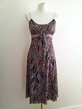 Catalyst (N.Z.) size 8 pink & black sleeveless dress with scoop neckline