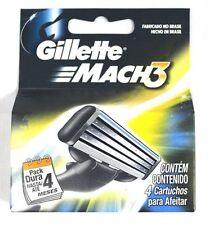 Gillette Mach 3 Mach3 Razor Refill Cartridges 4 Pack