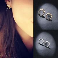 1 Pair Women Alloy Geometric Hoop Crescent Moon Ear Stud Earrings Jewelry