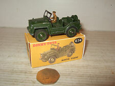 Vintage Dinky -Meccano Toys 674 Austin Champ and Reproduction Dinky Box