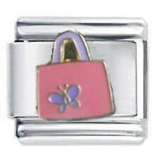 Daisy Charm - BUTTERFLY BAG - Fits Nomination Italian Charm bracelet charms