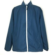 Sunice Mens Jacket L StormPack Full Zip Blue Rain Gear