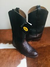 NEW BUFFALO HAND CRAFTED BROWN LEATHER COWBOY BOOTS SIZE EURO 42 UK 8