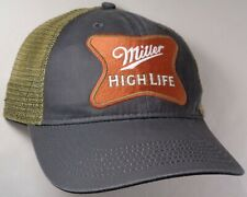 Hat Cap Licensed Miller High Life Tan Mesh Faded Black OC