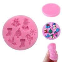 3D Christmas Silicone Fondant Cake Mould Chocolate Cake DIY Baking Mold Dec I3G6