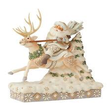 Jim Shore Christmas 'On Course For Christmas' Woodland Santa / Reindeer 6006579