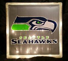 Lighted Seattle Seahawks Glass Block Light~ Home Decor~Gift~Lamp