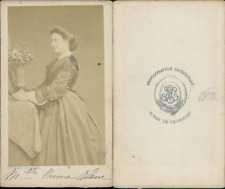 Mademoiselle Numa Blanc CDV vintage albumen Tirage albuminé  6,5x10,5  Cir