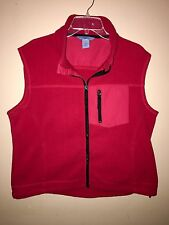 Duluth Trading Co Fleece Full Zip Vest Sz XL Red