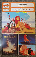 US Walt Disney Epic Musical The Lion King Le Roi Lion French Film Trade Card