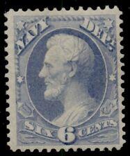 US #O38, 6¢ Navy Dept, og, LH, Vf, Scott $150.00