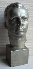Russian Soviet USSR Space Cosmos First Astronaut GAGARIN metal bust statue 1977