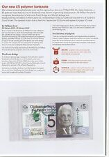 2016 Scotland £5 Pounds Clydesdale Bank First Prefix Low Number Collector Pack