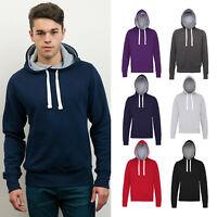 AWDis Chunky Hoodie - Men's Warm plain casual hooded sweatshirt |XS-2XL