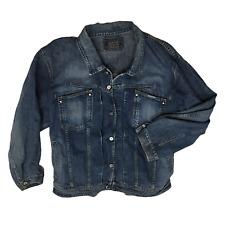 Marithe Francois Girbaud Blue Men Vintage Denim Jean Jacket Size 2XL Big & Tall