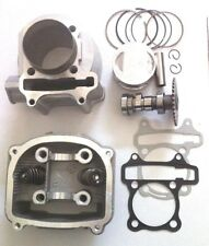 Gy6 150cc Engine 57.4mm Rebuild Top End Head Cylinder Bore kit Gaskets Version A