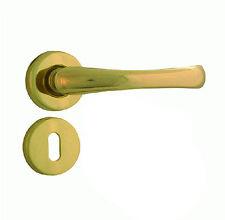 Maniglia maniglie coppia interne per porte in ottone dorate moderna colore oro