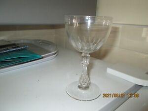 ANTIQUE DRINKING GLASS SLICE CUT BOWL HOLLOW STEM POLISHED PONTIL 3 AVAILABLE