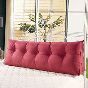 Cushion For Sofa Bed Triangular Wedge Pillow Large Filled Headboard Soft Reading