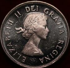 Uncirculated 1962 Canada Silver 25 Cents Foreign Coin