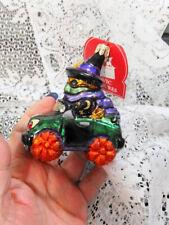 Slavic Treasures Creepy Cruiser Witch Halloween Polish Glass Ornament Nib
