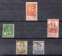 Belgica Monarquias Valores del año 1912-13 (CI-51)