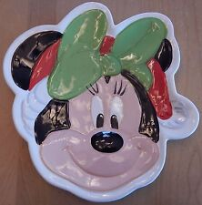 Disney Minnie Mouse Holiday Ceramic Serving Plate
