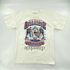 Vtg Nhl Mens Large Colorado Avalanche 1996 Western Conference Champ T-Shirt