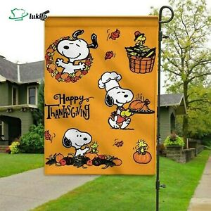 Snoopy Brown Happy flag, peace flag