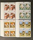 1971 Australian Stamps-Centenary of RSPCA & Animal Definitives-Set 4x4-Tabs MNH