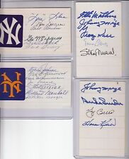 signed index card Hall of Famer Ernie Banks, Stan Musial, 3 others w/COA