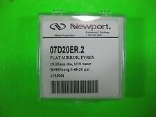 Newport Flat Mirror Pyrex 19.05mm 1/10 Wave -- 07D20ER.2 -- New