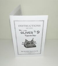 Oliver 9 Typewriter Instruction Manual and Brochure