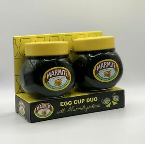 Marmite Egg Cup Duo Set With Marmite Portions