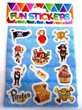 24 x Sheet of 12 Pirate STICKERS Party Bag Stocking Filler Toy
