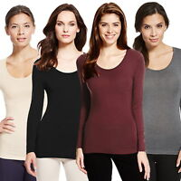 Ladies Ex M&S Heatgen Thermal Long Sleeve Top Sizes 8-28