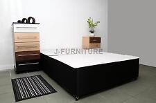 4ft6 Double Divan Bed Base in Black Colour *FACTORY SHOP*