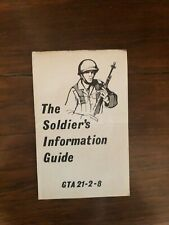 U.S. Army Gta 21-2-8 Pocket Card, The Soldier's Information Guide, October 1969