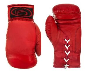 Red Boxing Gloves Sparring Punch Bag Gym Training Fight MMA Muay Thai Kickboxing