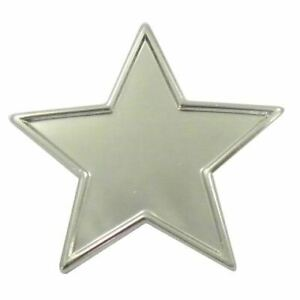 Silver Star pin badges - Pack of 10