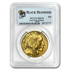 2011 1 oz Gold Buffalo Ms-70 Pcgs (Black Diamond) - Sku #64366