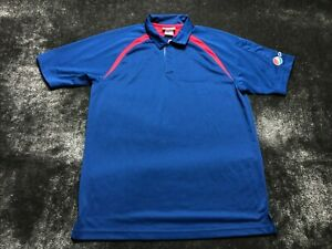 Pepsi Employee Uniform Men's Short Sleeve Polo Shirt Size M Medium Blue