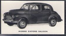 KELLOGGS-MOTOR CARS (BLACK & WHITE)-#09- MORRIS OXFORD SALOON